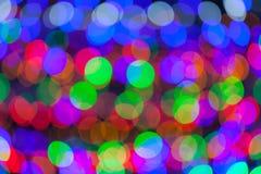 Colorful bokeh circles defocused lights Royalty Free Stock Image