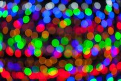 Colorful bokeh circles defocused lights Stock Photo