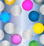 Colorful bokeh circles vector background. Decoration glistering color graphic Royalty Free Stock Images