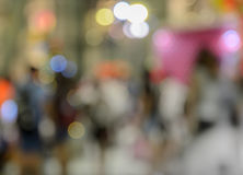 Colorful bokeh city light up background Stock Image