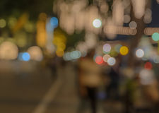 Colorful bokeh city lights background Royalty Free Stock Photography