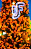 Colorful Bokeh. Colorful Christmas tree bokeh royalty free stock images