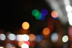 Colorful Bokeh in closeup. Shot Stock Images