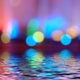 Colorful bokeh defocused lights wallpaper Stock Image