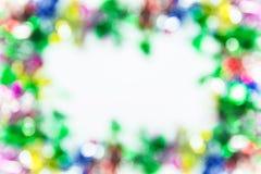 Colorful  bokeh frame Stock Image