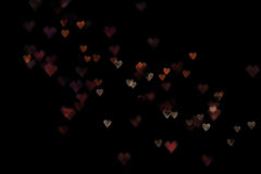 Colorful bokeh hearts background Stock Photography