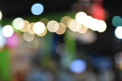 Colorful bokeh images for wallpapers, texture, background. Stock Photos