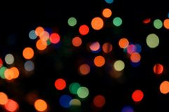 Bokeh light abstract background. Varicoloureds patches of light for background royalty free stock images