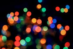 Bokeh light abstract background. Varicoloureds patches of light for background royalty free stock photo