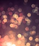 Colorful bokeh light background Stock Images