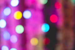 Colorful bokeh of light. Royalty Free Stock Images