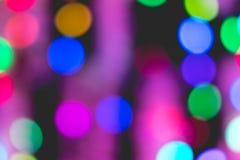 Colorful bokeh of light. Colorful bokeh of light on black background Stock Photo