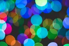 Colorful bokeh of light. Colorful bokeh of light on black background Stock Photography