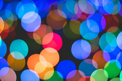 Colorful bokeh of light. Royalty Free Stock Photos