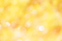 Colorful of bokeh  light blurred yellow Royalty Free Stock Photography