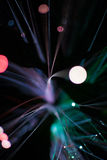 Colorful bokeh light celebrate at night, defocus light abstract background. Royalty Free Stock Photo