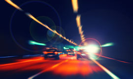 Colorful bokeh light from night traffic,speed color Stock Photography