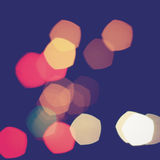 Colorful bokeh light vintage background. Colorful pentagon bokeh light vintage background stock photo