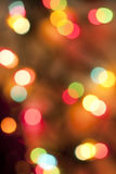 Colorful bokeh lights Stock Image