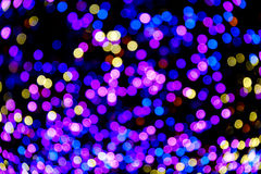 Colorful bokeh lights celebrate on  background Royalty Free Stock Images