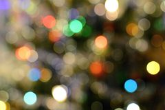 Colorful bokeh lights Stock Photo
