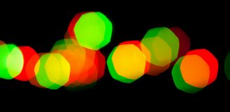 Colorful bokeh lights of garland Royalty Free Stock Photography