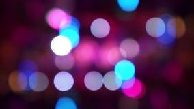 Colorful bokeh night lights.