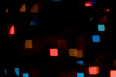 Colorful bokeh square-shaped lights Royalty Free Stock Images