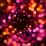 Colorful bokeh with star. Illustration of a colorful background with stars and bokeh - blur effect vector illustration