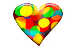 Bokeh forming heart shape Royalty Free Stock Image