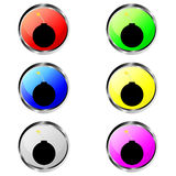 Colorful bomb buttons Royalty Free Stock Photo