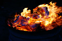 Colorful bonfire Stock Images