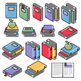 Colorful book icons set vector illustration. Stock Photography