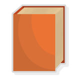 Colorful book set, vector graphic Stock Photography