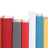 Colorful book spines Stock Image