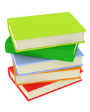 Colorful Book Stack. A set of colorful books isolated on white Stock Photo
