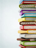 Colorful book stack with copyspace Stock Image