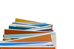 Colorful book stack isolate in white background Stock Photography