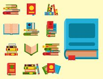 Colorful book vector illustration learn literature study opened and closed education knowledge document textbook Royalty Free Stock Images