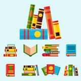Colorful book vector illustration learn literature study opened and closed education knowledge document textbook Stock Photography
