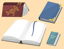 Colorful book vector illustration learn literature study opened closed education knowledge document textbook Royalty Free Stock Photos