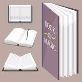 Colorful book vector illustration learn literature study opened closed education knowledge document textbook Royalty Free Stock Photo