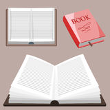 Colorful book vector illustration learn literature study opened closed education knowledge document textbook Stock Photography