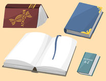 Colorful book vector illustration learn literature study opened closed education knowledge document textbook Royalty Free Stock Image