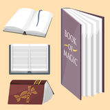 Colorful book vector illustration learn literature study opened closed education knowledge document textbook Royalty Free Stock Photography