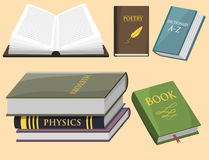Colorful book vector illustration learn literature study opened closed education knowledge document textbook Stock Photos