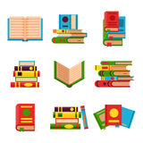 Colorful book vector illustration learn literature study opened and closed education knowledge document textbook. Colorful book vector illustration learn Royalty Free Stock Photos