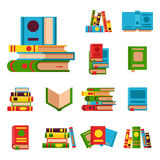 Colorful book vector illustration learn literature study opened and closed education knowledge document textbook Stock Photos