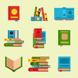 Colorful book vector illustration learn literature study opened and closed education knowledge document textbook Royalty Free Stock Photo