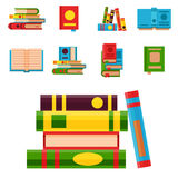 Colorful book vector illustration learn literature study opened and closed education knowledge document textbook Royalty Free Stock Photos